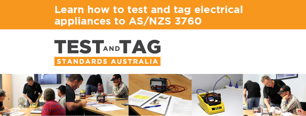 Learn how to test and tag electrical appliances to AS/NZS 3760 at Test and Tag Standards Australia.