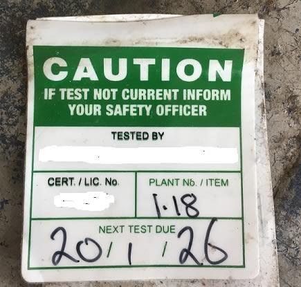 Non-compliant tag 1