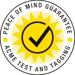 Acme Test and Tagging Peace of Mind Guarantee