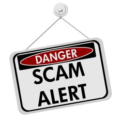 test and tag scam alert sign