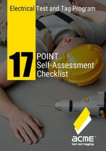 17 point test and tag self assessment checklist