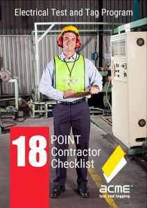 18 point test and tag contractor selection checklist