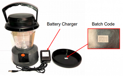 Recalled BCF Outdoor Lantern and 240V Charger