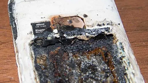 mobile phone exploded