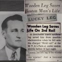 Wooden leg saves man's life