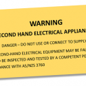 Label second hand appliance