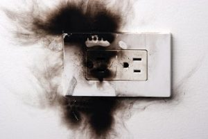 burnt poweroutlet